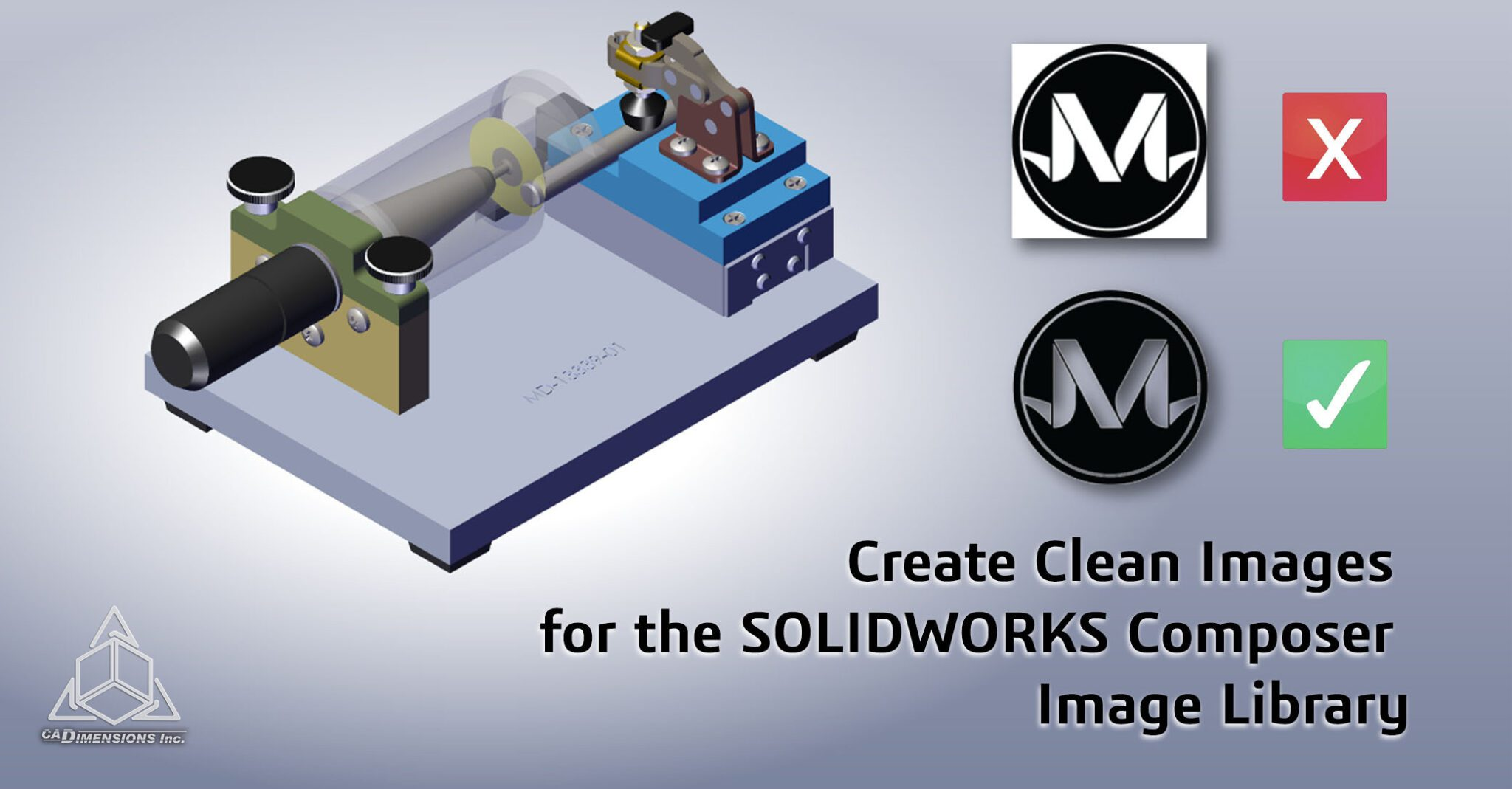 Create Clean Images for the SOLIDWORKS Composer Image Library CADimensions