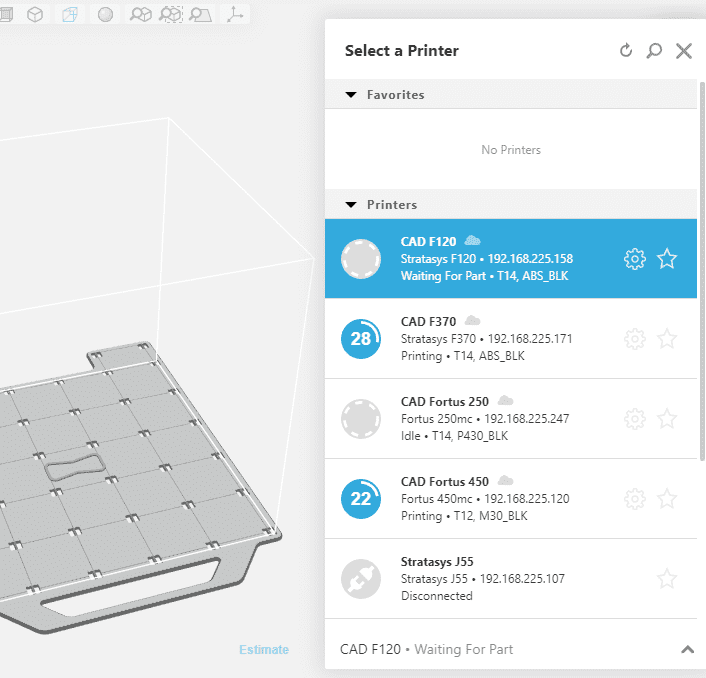 Select a Printer page GrabCAD print to find Stratasys Service Documents