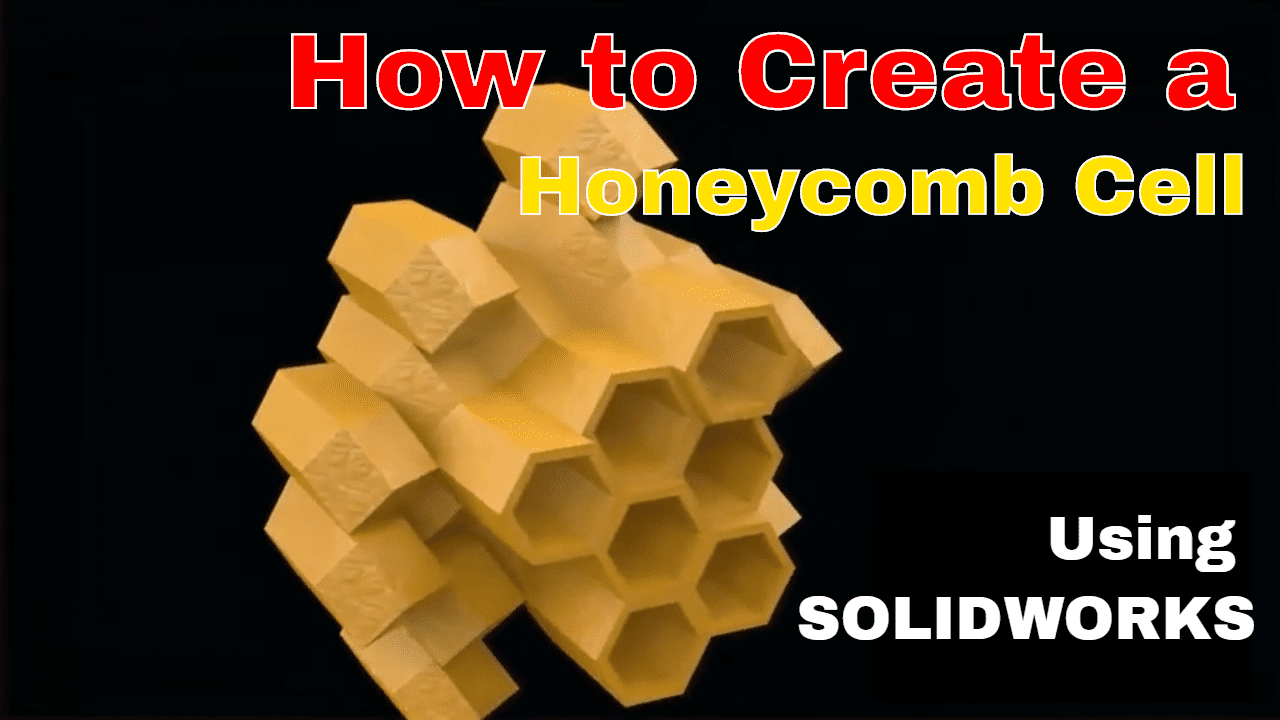 honeycomb in solidworks cad software